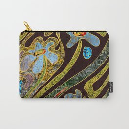 flowers and swirls Carry-All Pouch