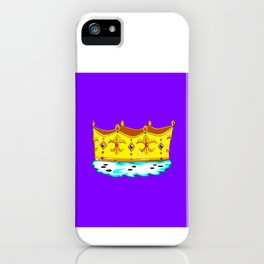 A Gold Crown with Ermine Fur iPhone Case