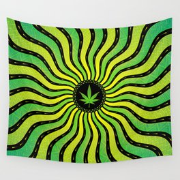 Marijuana energy | Sacred geometry mandala Wall Tapestry