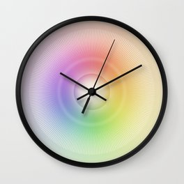 Color Wheel Wall Clock