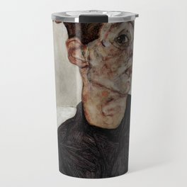 Egon Schiele , self-portrait Travel Mug