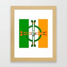 Hurley and Ball Celtic Cross Design Framed Art Print