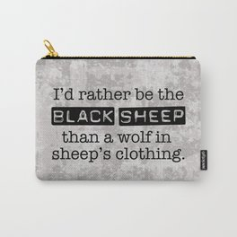 Labeled the Black Sheep Carry-All Pouch