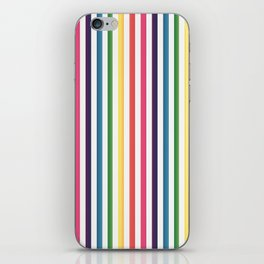 Gorgeous Colorful Stripes LOVE Typography iPhone Skin