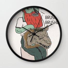 brushie brushie Wall Clock