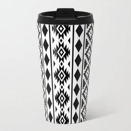 Aztec Essence Ptn III Black on White Travel Mug