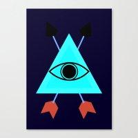 illuminati Canvas Prints featuring Illuminati by Lucas de Souza