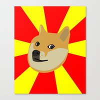 doge Canvas Prints featuring Doge by Subtle Tee
