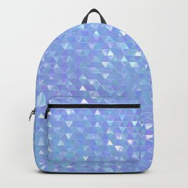 Blue Violet Triangles Backpack