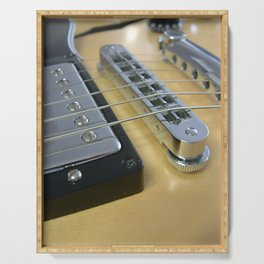 Close Up of Yellow Guitar Serving Tray