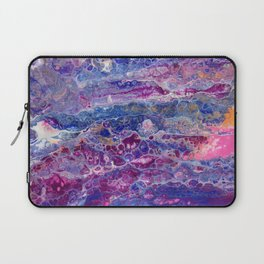 Psycho - Stream of Consciousness in Lively Color Flow by annmariescreations Laptop Sleeve