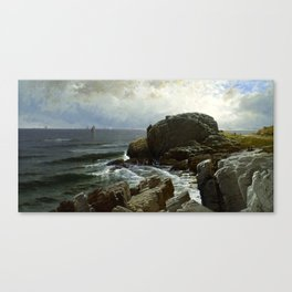 Castle Rock, Marblehead, 1878 by Alfred Thompson Bricher Canvas Print