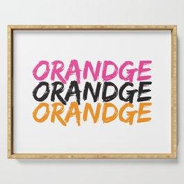 Orandge Serving Tray