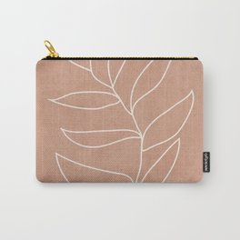 Engraved Leaf Line Carry-All Pouch