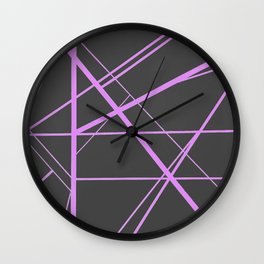 Crossroads - Brown and Pink Wall Clock