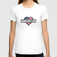 american T-shirts featuring American by AmazingVision
