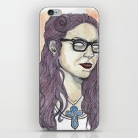alex vause iPhone & iPod Skins featuring Vause OITNB by Ashley Rowe
