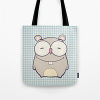 hamster Tote Bags featuring Hamster by Mr and Mrs Quirynen