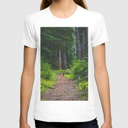 Green Forest Path (Color) T-shirt