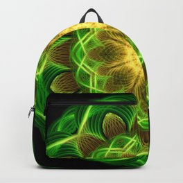 Emerald Orb Mandala Backpack