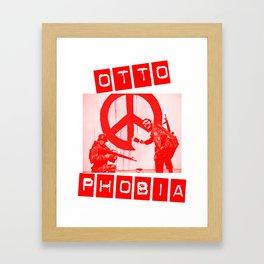 Banksy/Otto in Red Framed Art Print