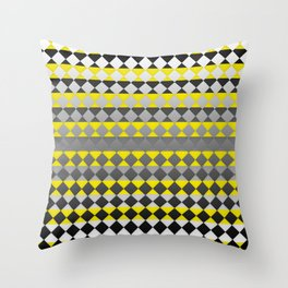 Lines and Squares Throw Pillow