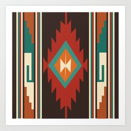 American Native Pattern No. 32 Art Print