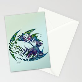 Siamese fighting fish themed artwork Stationery Cards