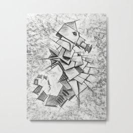 Cavalluccio Marino Metal Print