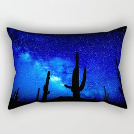 The Milky Way Blue Rectangular Pillow