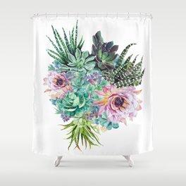 Succulent Bouquet Shower Curtain