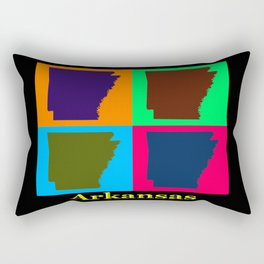 Colorful Arkansas State Pop Art Map Rectangular Pillow
