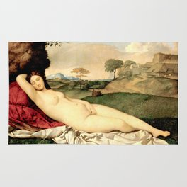NUDE ART: Sleeping Venus by Giorgione Rug