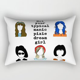 not your typical manic pixie dream girl Rectangular Pillow