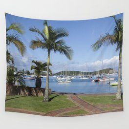 Boats in the Bay Wall Tapestry