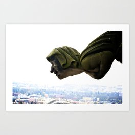 Gargoyle on the Münster in Ulm, Germany Art Print