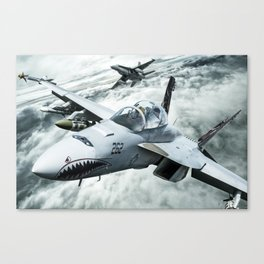 Ghost Rider this is Mustang... vector 090 for Boggie Canvas Print