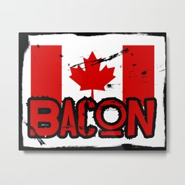 Canadian Bacon Metal Print