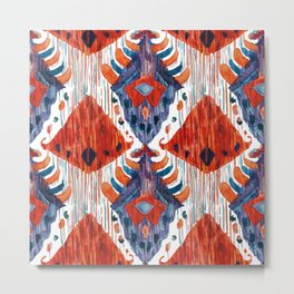 crush balinese ikat Metal Print