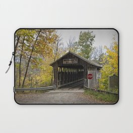 Whites Covered Bridge in Michigan Laptop Sleeve