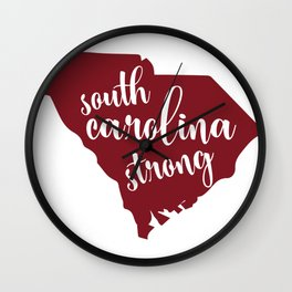 South Carolina Strong - Hurricane Florence Wall Clock