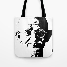 Mahatma Gandhi Minimalistic Pop Art Tote Bag