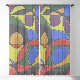Abstract #223 Sheer Curtain