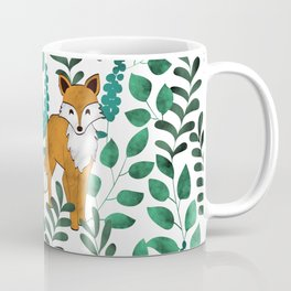 Red Foxes (White) Coffee Mug