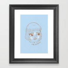 Hello Little Universe Framed Art Print