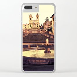 Spanish Steps Clear iPhone Case