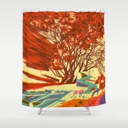 A bird never seen before - Fortuna series Shower Curtain