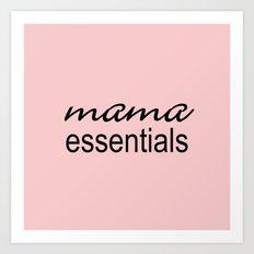 Mama Essentials Pantone 2016-Rose Quartz Art Print