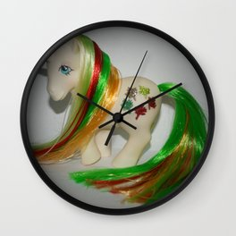 My Little pony Customised Gusty, rehaired, gorgeous vintage g1 Wall Clock