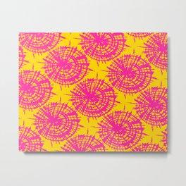 Grapefruit Fusion Tie Dye - Rasha Stokes Metal Print